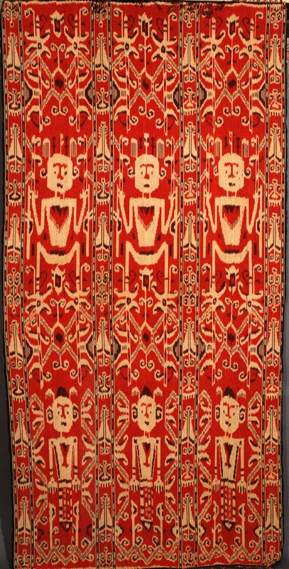 Cotton ikat hinggi, from Sumba, Indonesia