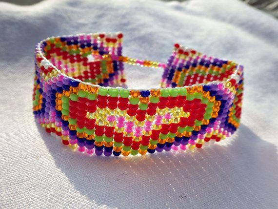 Kleurrijke Valentijnsdag armband liefde armband Bead Loom