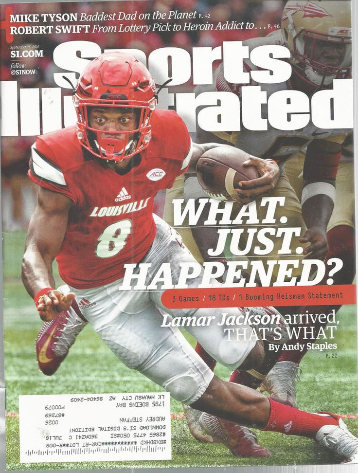 Lamar Jackson Louisville Football Sports Illustrated Magazine September 26 2016 #doesnotapply