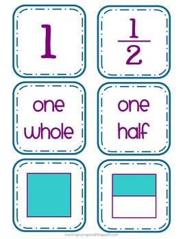 Fraction Card Match Up $Classroom Teaching, Grade Math, Classroom Math, Fractions Cards, Math Ideas, Math Education, Teaching Fractions 2Nd Grade, Fractions Second Grade, Cards Matching