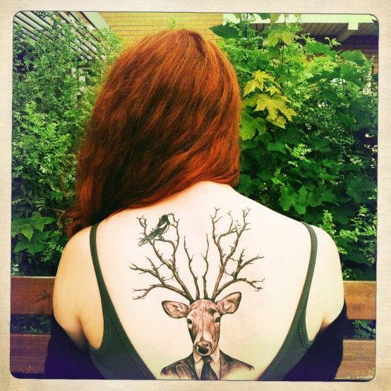 Deer #tattoos #tats #ink #inked #sexy #girls #women