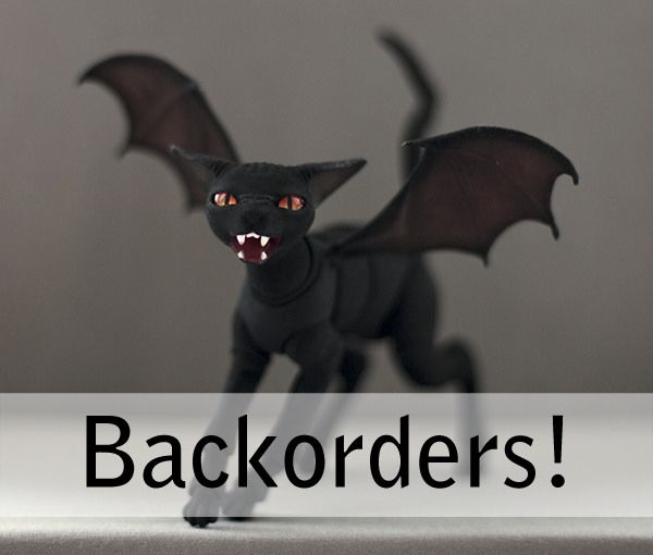 We are testing new functionality for our Store and we now have something called a backorder. In the past if a doll was sold it despaired from the Store. But now a doll can stay available. Backorder is basically a pre-order where we make an exactly same doll for you. That way you don't have to figure out how to set up a pre-ordering form (or maybe a the doll was never even available as a pre-order). store.evethecat.com/…/devil-sphinx-cat-241-backorde…/ Right now we only have...