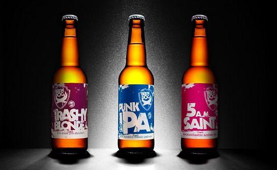 Brew Dog - UK craft brewery. Punk rock/new age design.