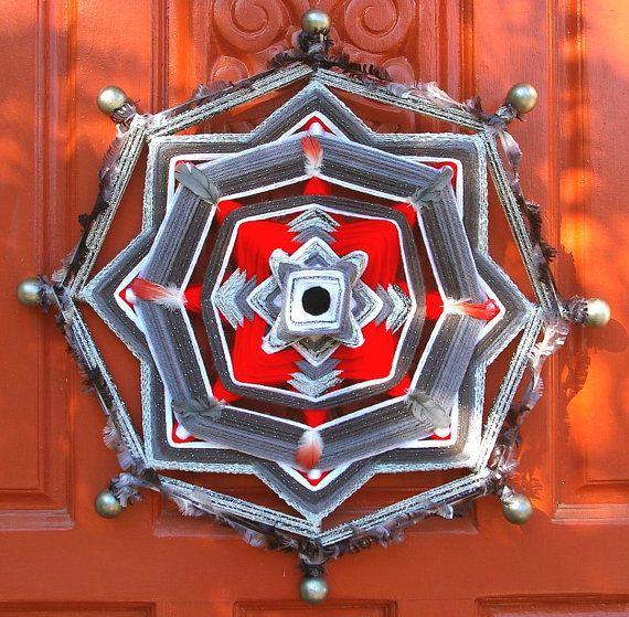 18 Mandala Woven Yarn Art Ojo de Dios Wall от MandalaMoonShop