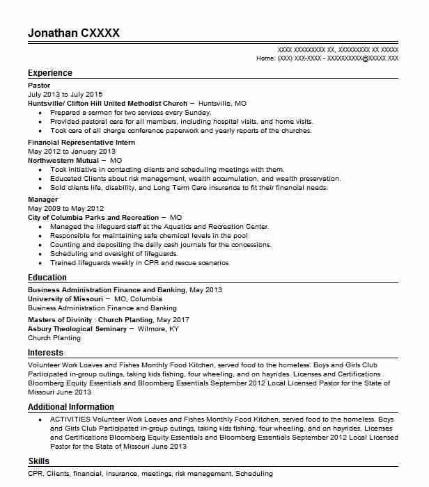 Pastor Resume Sample Resumes Misc Livecareer Resume Template Unique Resume Template Resume Design Template