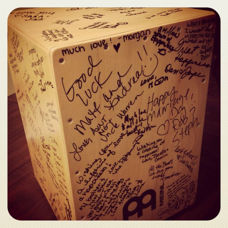 cajon drum guest book one of my favorite details that we did my wedding ideas cajon drum. Black Bedroom Furniture Sets. Home Design Ideas