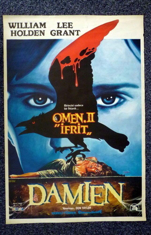 OMEN II Damien Original 1978 Turkish One Sheet Horror Movie Poster Lee Grant