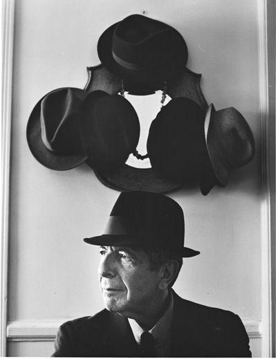 Leonard Cohen - poet, song writer, dapper dude.  Way cool.
