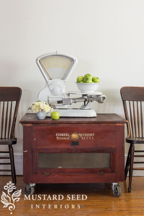 the chicken incubator table - Miss Mustard Seed
