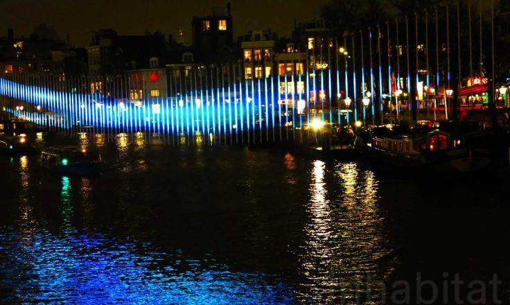 Amsterdam Light Festival: Swedish light art pioneer Alesksandra Stratimirovic's 'Northern Lights'.