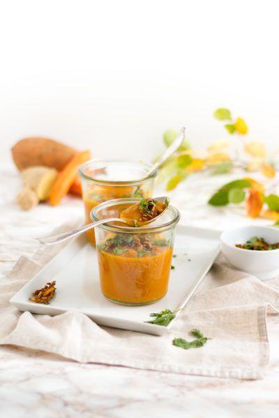 Thai Süßkartoffel & Karotten Suppe I Thai Sweet Potatoe & Carrot Soup