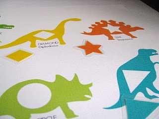 dinosaur matching shapes with printables