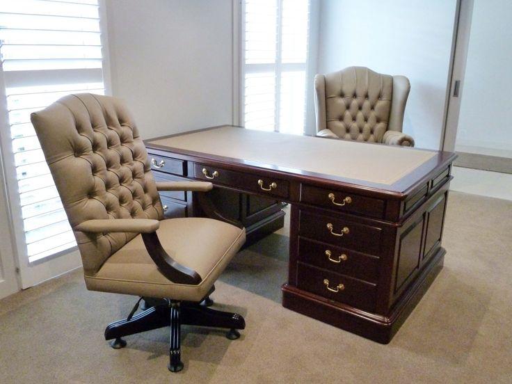 Solid Mahogany Partners Desk