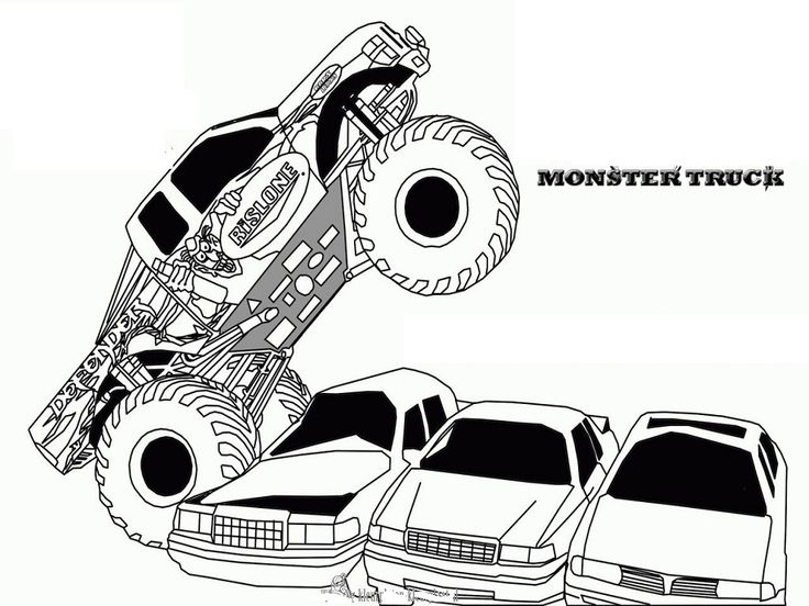 14 best images about monster trucks on pinterest coloring free