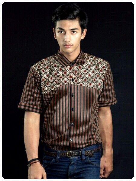 Mavazi summer menswear, fabric : cotton , application : jogja stamp batik & lurik weaving