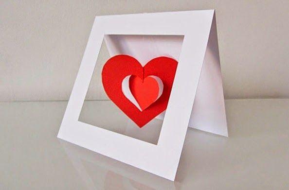 Cómo hacer una tarjeta 3D para San Valentin