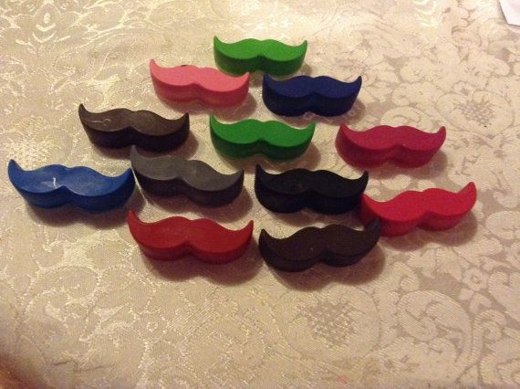 Moustache crayons  pack of 4  perfect for stocking by artofcandles, £1.50