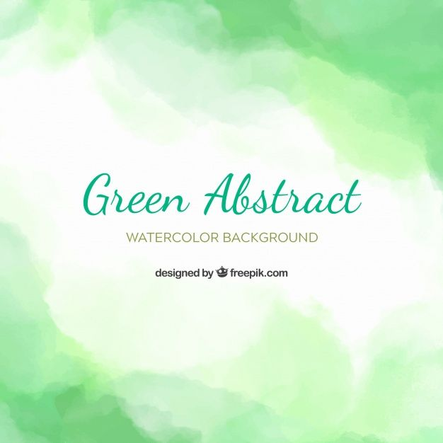 Download Green Abstract Background In Watercolor Style For Free