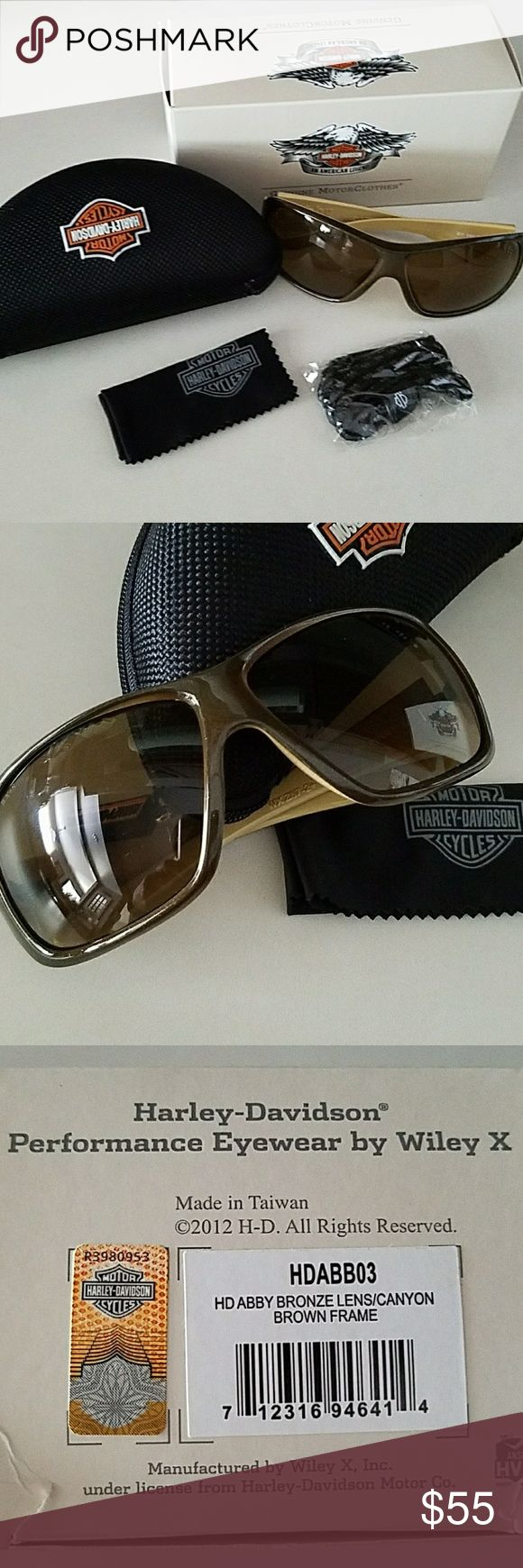 Harley Davidson Wiley X womens eyewear Brand-new,  Harley Davidson Wiley X performance eyewear, bronze lense canyon brown frame,  received as a gift and i need prescription eyewear 😒, no trades. Harley-Davidson Accessories Sunglasses