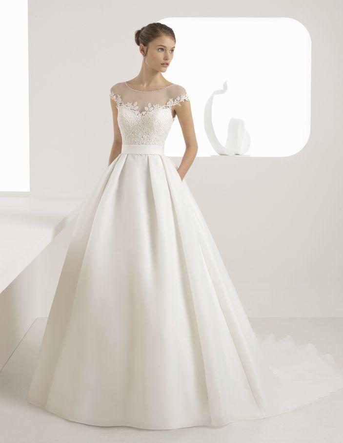 vestido de novia de rosa clará (anne), colección rosa clará , corte