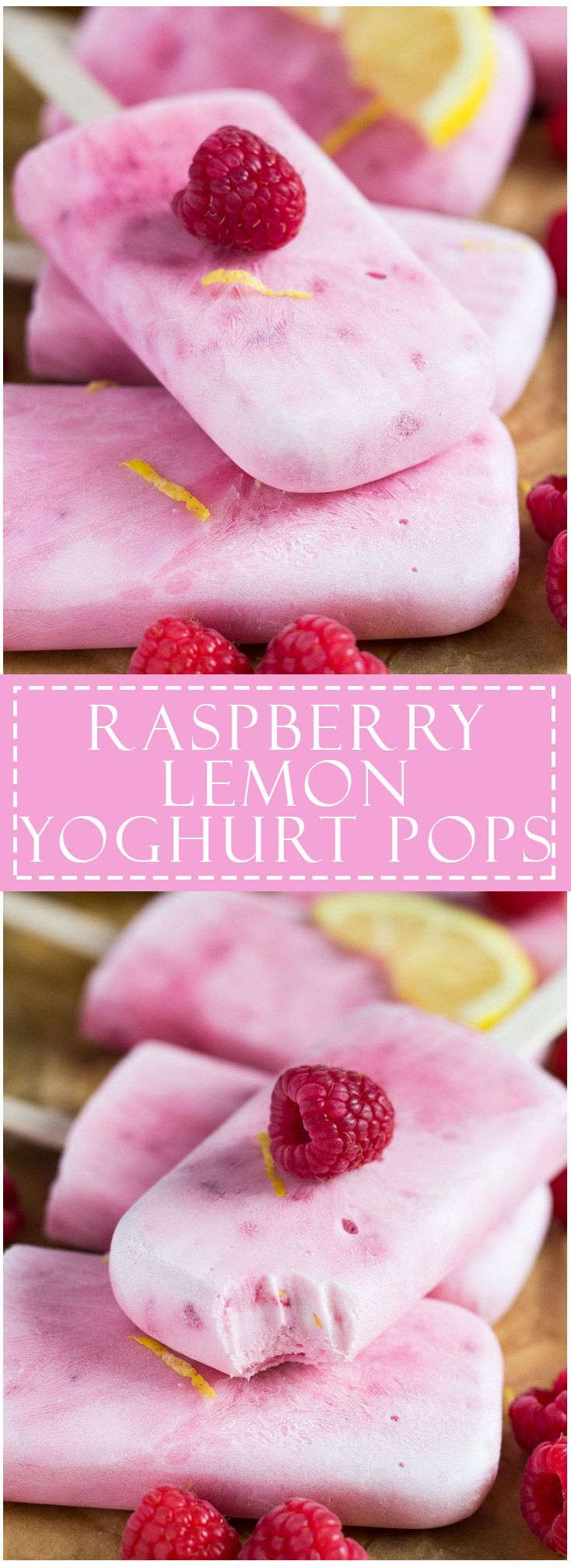 Raspberry Lemon Greek Yoghurt Popsicles | marshasbakingaddiction.com…