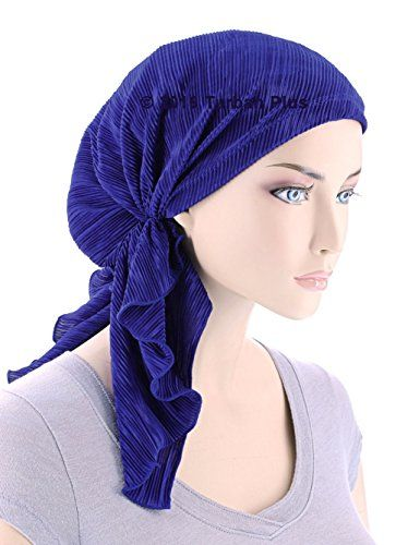 The Bella Scarf Chemo Turban Head Scarves Pre-Tied Bandana for Cancer Plisse Plum Paisley Floral