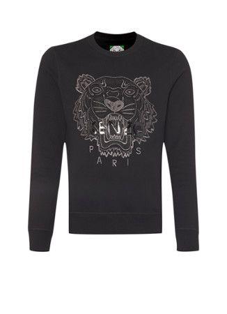 Kenzo Sweater met tijgerkop en logo • de Bijenkorf