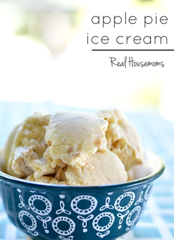 Apple Pie Ice Cream | Real Housemoms | There's not much better than apple pie a la mode except to combine the two in Apple Pie Ice Cream!