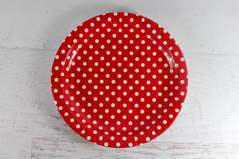 Red Polka Dot Paper Plates | Pop Roc Parties