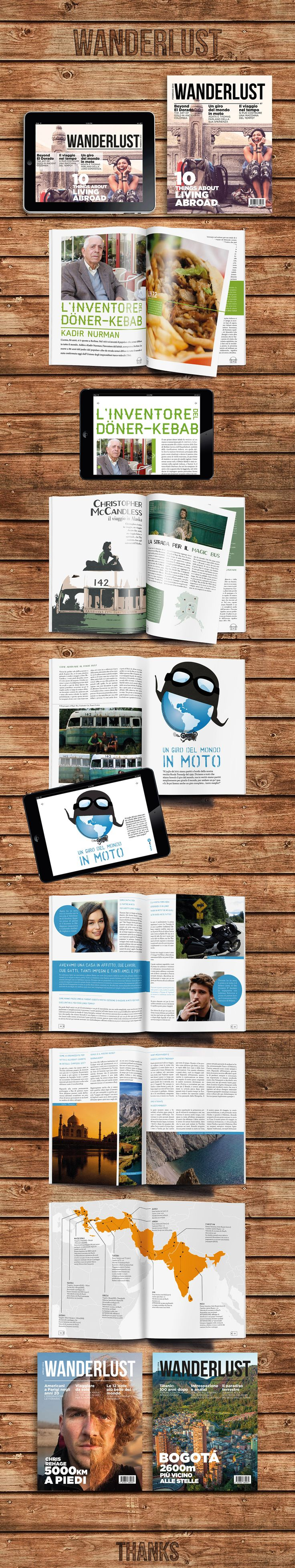 WANDERLUST - print design - magazine - ipad - digital publishing - infographic - dps - inDesign - rivista di viaggi