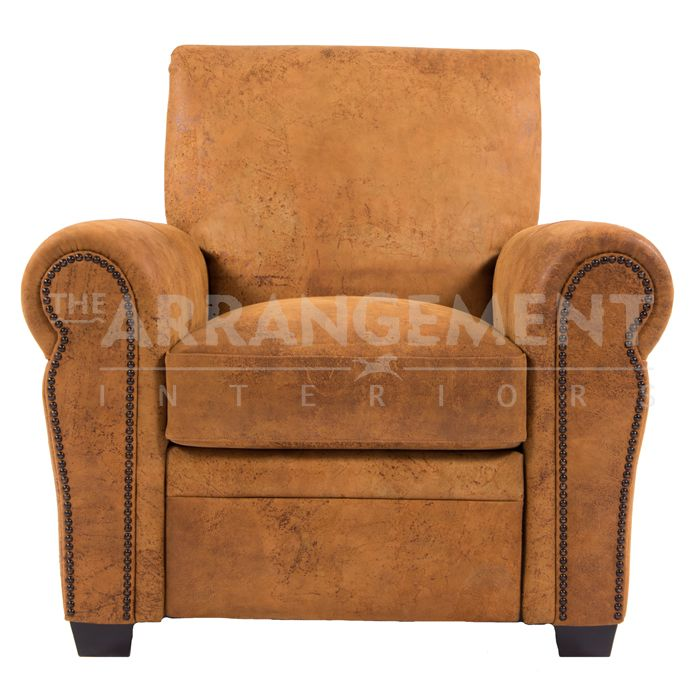 Denise Leather Recliner   Rustic furniture in Houston and Dallas. The best furniture store for custom built western furniture.