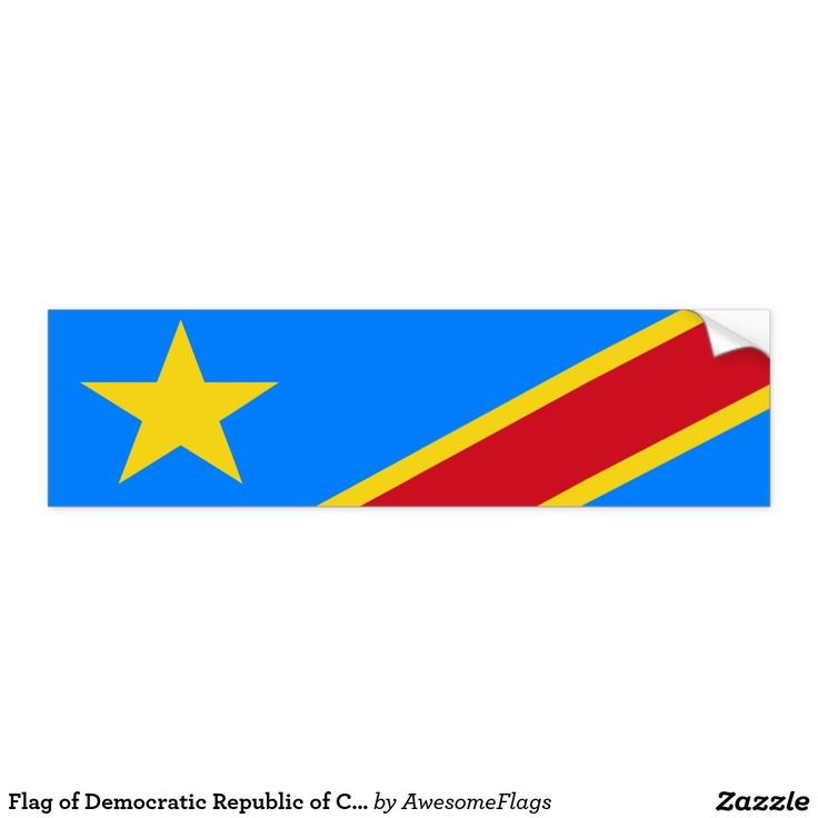 Flag of democratic republic of congo bumper sticker
