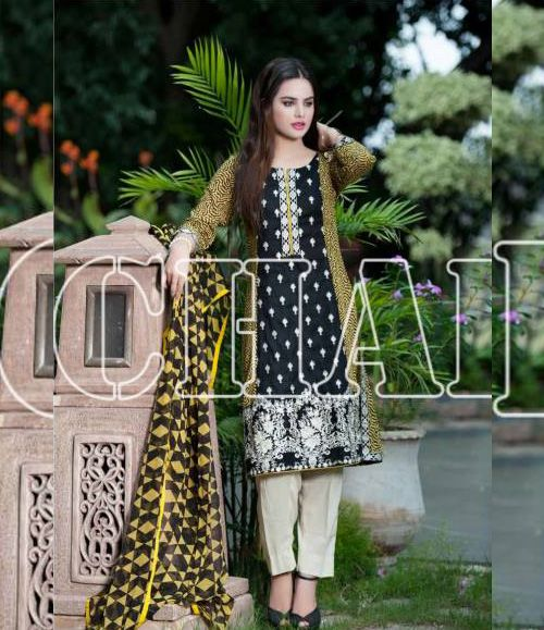 Charizma Range Vol-3 Luxury Lawn Embroidered Collection CR-615