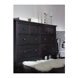 HEMNES 8-drawer dresser IKEA. A must in my new place, the white stain is nice too.
