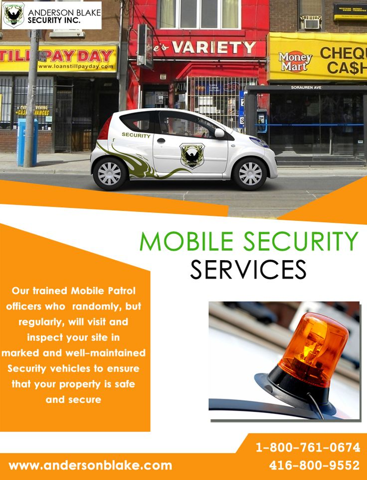 We provide complete mobile security services in Brampton. Just call at:416-800-9552 and 1-800-761-0675