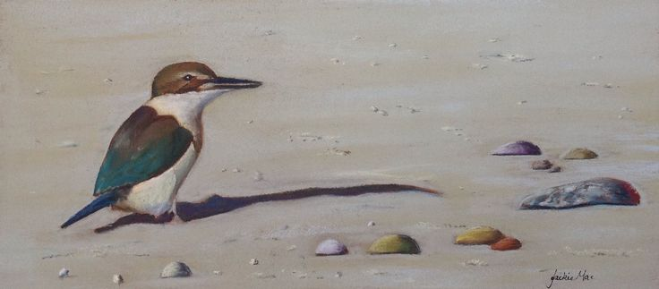 "Pastel Painting by JackieMac ""Kingfisher"""