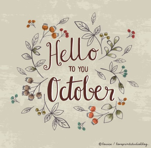 love print studio blog: Hello October...