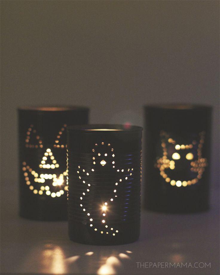 Day 6: Spooky Tin Can Lantern DIY