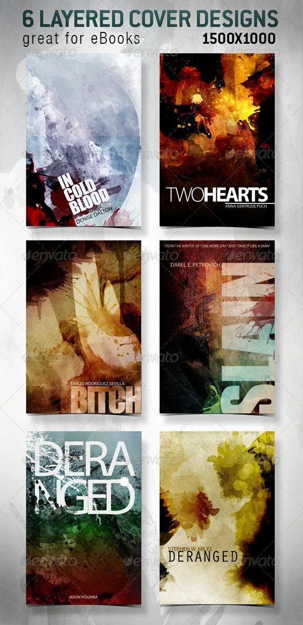 6 eBook Covers for Web - design templates