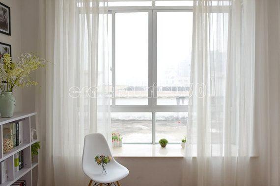 Best 25 White Sheer Curtains Ideas On Pinterest White
