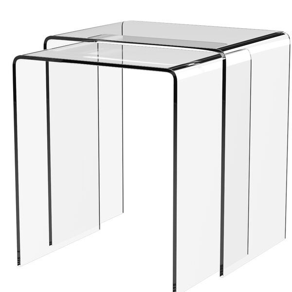 Channing 2 Piece Sled Nesting Tables Nesting Tables Affordable Furniture Acrylic Table