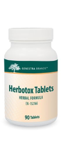 Herbotox Tablets by Genestra. Herbotox Tablets provides synergistic herbs such as dandelion, uva-ursi, cascara sagrada and parsley in a convenient tablet format.