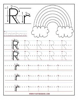 Printable letter R tracing worksheets for preschool - Printable Coloring Pages For Kids