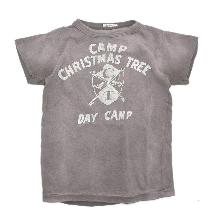 DENIM DUNGAREE(デニム&ダンガリー):ビンテージテンジク DAY CAMP Tシャツ 23LGR薄グレイ の通販【ブランド子供服のミリバール】
