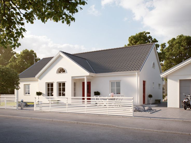 Huset Båstad med hög takresning och öppna ytor - Myresjöhus