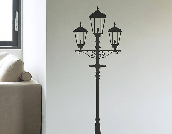 A Classic Lampost Vinyl Wall Sticker, Available In A Selection Of Sizes And  Colours. Part 36
