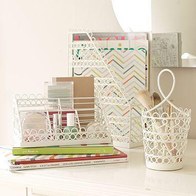 I need desk organizers now wire scallop desk - Cute desk accessories and organizers ...