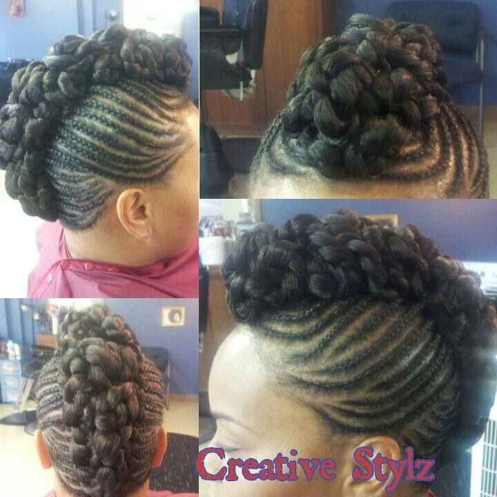 ... Summer hair styles | Pinterest | Buns, Braided buns and Side cornrows