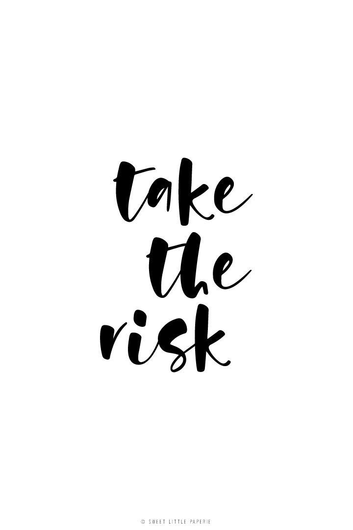 follow us on instagram! | take the risk, girl boss quote sweet little paperie on etsy, stationery, stationary, modern white envelope, card with envelope, type, typography, calligraphy, brush lettering, hand lettering, drawing, style, bold, sweet, script font, hand lettered, minimalist, minimalism, minimal, simplistic, simple, modern, contemporary, classic, classy, chic, girly, fun, clean aesthetic, bright, white, pursue pretty, style, neutral color palette, inspiration, inspirational,