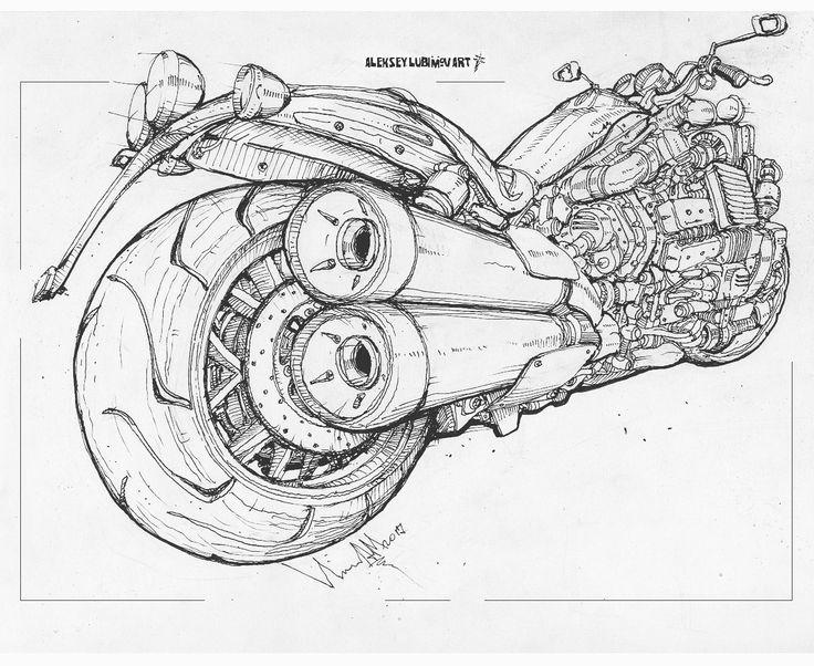 Motorcycle #алексейлюбимовбиомеханика #алексейлюбимов #стимпанк #дизельпанк #биомеханика #marchofrobots #steampunk #dieselpunk #alekseylubimov #biomechanical #marchofrobots2017 #motorcycle